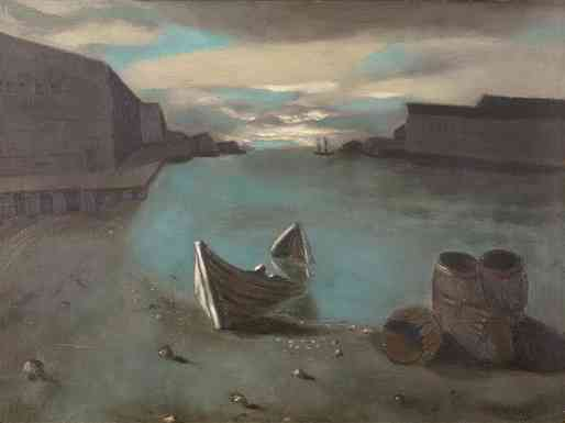 Gloucester Harbor, oil on board, 1934, 20 x 24
