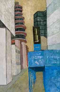 Lower East Side	, oil on canvas, 36 x 28, 1980