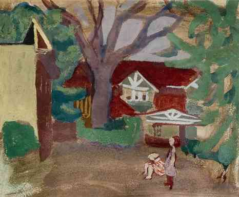 The Red House, gouache, 8 x 7, 1939