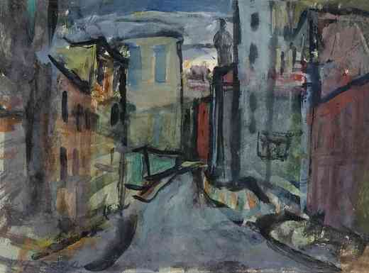Lower East Side, gouache, 11 x 14, 1934