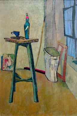 Studio Interior with Stand, oil on canvas, 36 x 24 in. 1945