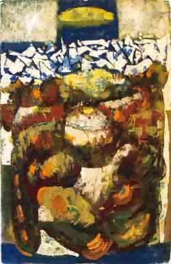 Tundra Series 3, gouache on paper, 40 x 26, 1958