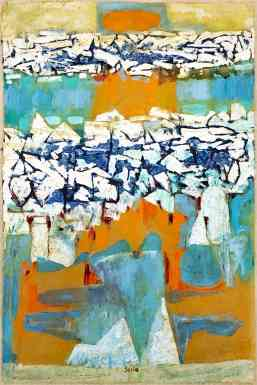Tundra, Arctic Thaw 1, gouache on paper, 36x24, 1958